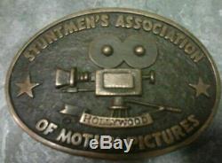 Stuntmen Association of Motion Pictures Belt Buckle Hollywood Al Shelton Movie