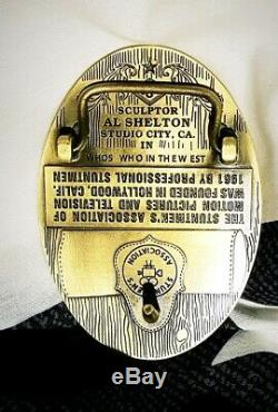 Stuntmen's Association Of Motion Pictures Belt Buckle Hollywood Al Shelton Cliff