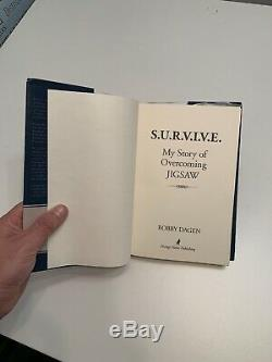 Survive Bobby Dagen Saw 3 3D Original Movie Screen Used Prop Book RARE