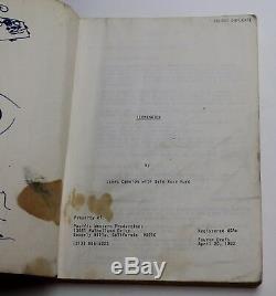 THE TERMINATOR / James Cameron 1983 Original Movie Script, Arnold Schwarzenegger