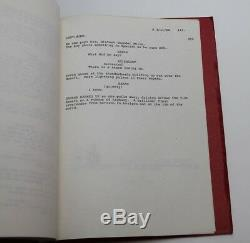 THE TERMINATOR / James Cameron 1984 Movie Script Screenplay, Gale Anne Hurd