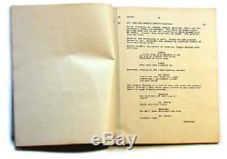 THE THING Movie Production Script 1982 Signed COA prop Kurt Russell Carpenter