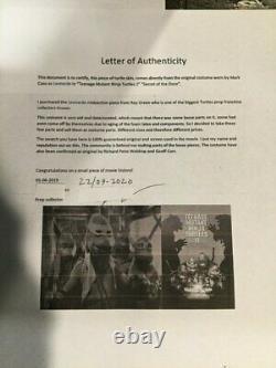 Teenage Mutant Ninja Turtles Movie Prop Leonardo Skin piece screen used neca ult