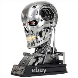 Terminator T-800 Signed By Arnold Schwarzenegger Head Skull Skeleton Autographed
