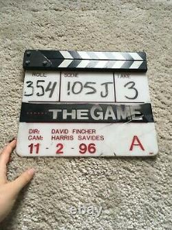 The Game Original Movie Clapperboard Slate owned by cinematographer