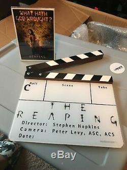 The Reaping Screen Used Movie Prop Clapper Hilary Swank Rare
