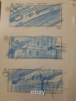 Thor The Dark World Original Art Storyboards Trevor Goring Stan Lee Cameo Prop