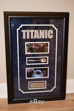 Titanic Movie Prop Spoon Flatware with Fox COA Framed Display