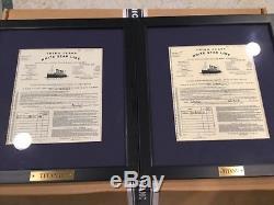 Titanic Movie Tickets Set With Coa That Jack Won