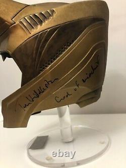 Tom Hiddleston Signed Loki Helmet Kings Art Replica Prop Beckett Bas Coa Auto