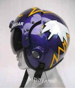 Top Gun Cougar Flight Helmet Movie Prop Pilot Naval Aviator Usn Navy