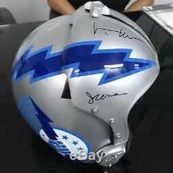 Top Gun Iceman Replica Flight Helmet F-14 Autographed Val Kilmer Movie Prop