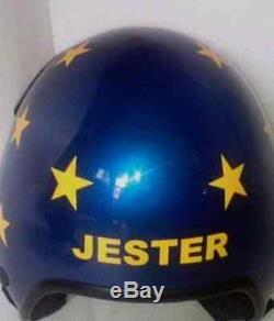 Top Gun Jester Flight Helmet Movie Prop Pilot Naval Aviator Usn Navy