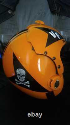 Top Gun Jolly Roggers 2 Flight Helmet Movie Prop Pilot Naval Aviator Usn Navy
