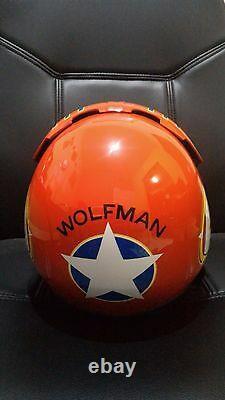 Top Gun Wolfman Flight Helmet Movie Prop Pilot Naval Aviator Usn Navy