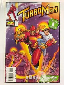Turbo Man Comic Book Cover From The Movie Jingle All The Way 1996 withCoA