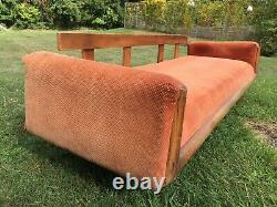 Vintage Mid Century Modern 1970s Groovy Floral Sofa Couch Movie Set Prop Retro