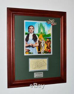 WIZARD OF OZ Signed JUDY GARLAND Autograph, DOLL, Blu DVD Set Frame Set COA UACC