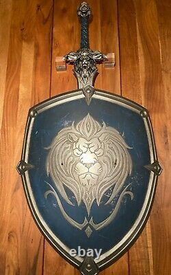 Warcraft Movie Prop Film Used Alliance Large Shield And Sword