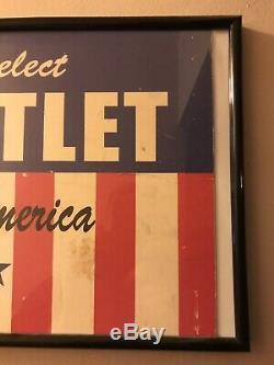 West Wing Film Movie Prop Set Used Re-Elect Bartlett Sign