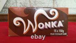 Wonka Bar Case Screen Used Movie Prop Charlie & The Chocolate Factory Sun Fade